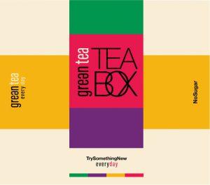 עיצוב מותג משקאות תה ירוק