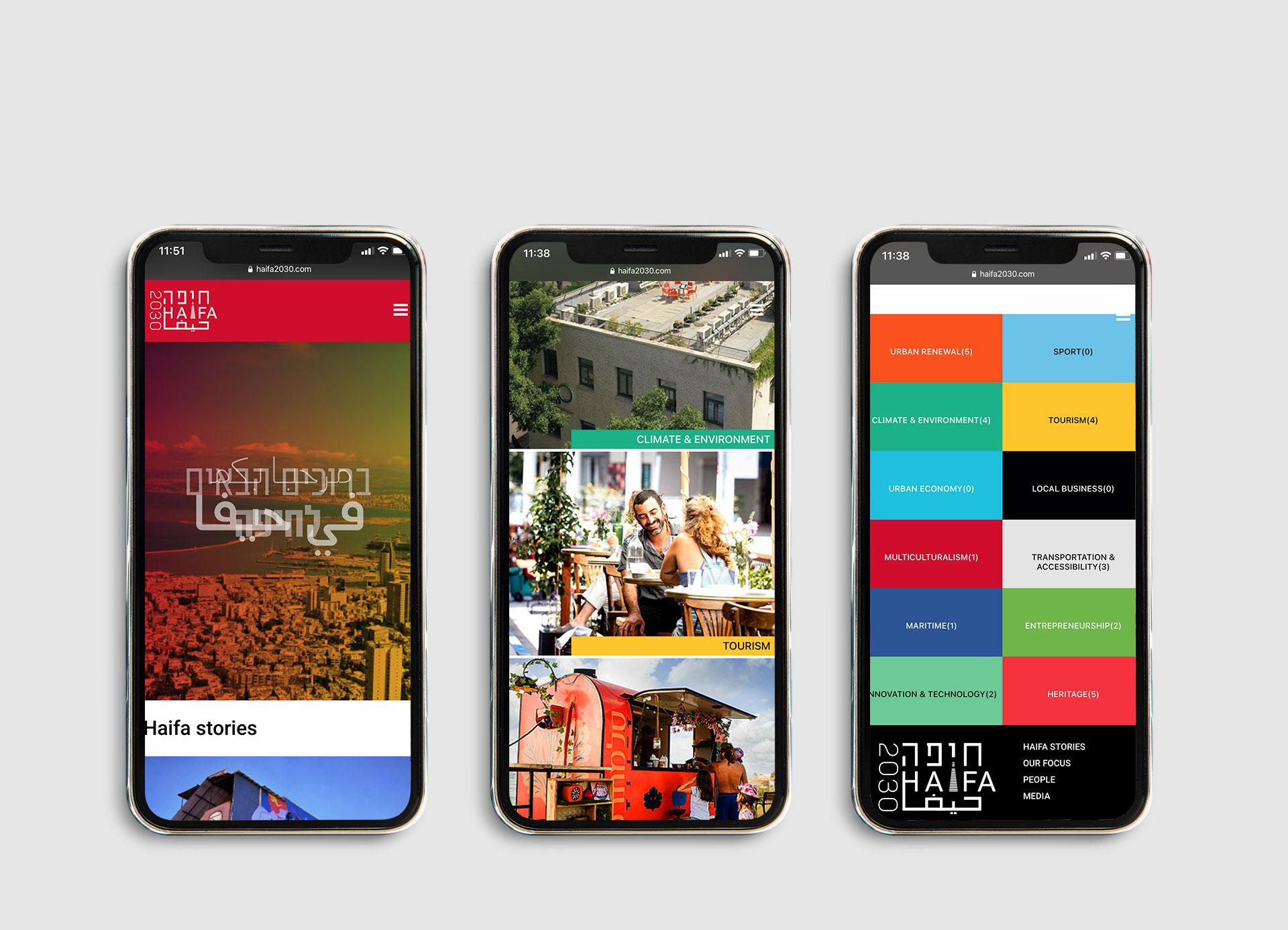 Mobile-Haifa2030-web-design